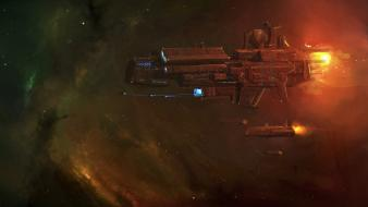 Fantasy art outer space spaceships vehicles wallpaper