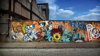 Graffiti street art wall wallpaper