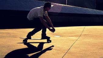 Half pipe men skateboarding skates wallpaper