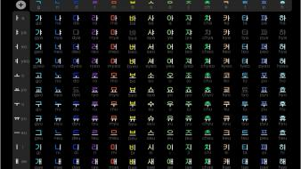 Hangul korean language artwork wallpaper