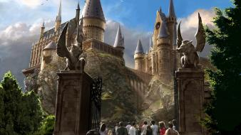 Harry potter hogwarts artwork castles Wallpaper