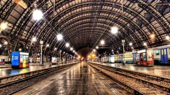 Hdr photography metro station train stations wallpaper