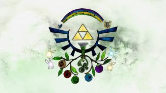 Hyrule crest the legend of zelda triforce wallpaper