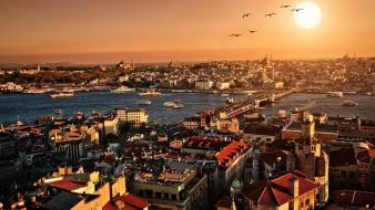 Istanbul cityscapes city skyline landscapes skyscrapers wallpaper