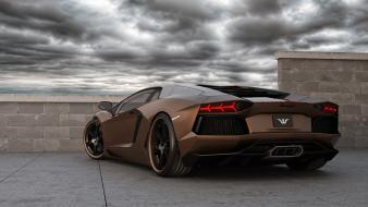 Italian lamborghini aventador wheelsandmore cars clouds wallpaper