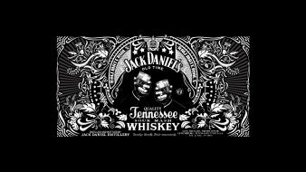 Jack daniels alcohol black background bottles drinks wallpaper