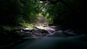 Landscapes nature rivers shade sunlight wallpaper