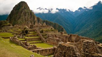 Machu picchu abandoned city landscapes nature ruins wallpaper