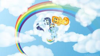 Magic rainbow dash spitfire mlp character clouds Wallpaper