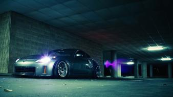 Nissan 350z cars silver stance wallpaper