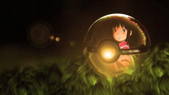Poke balls pokemon spirited away studio ghibli wallpaper