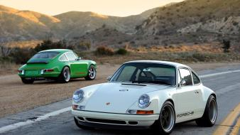 Porsche 911 singer cars landscapes wallpaper