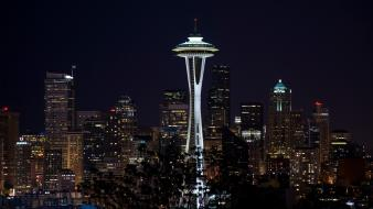 Seattle cityscapes city skyline skyscrapers wallpaper