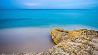 Serenity azure beaches nature wallpaper