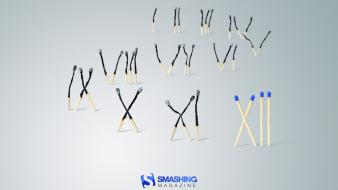 Smashing magazine matchsticks numbers roman numerals wallpaper