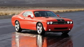 2008 dodge challenger srt8 pavement wet wallpaper