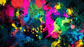 Abstract artwork colors multicolor paint wallpaper
