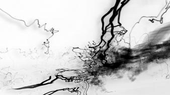 Abstract ink splashes wallpaper