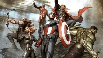 Adi granov avengers black widow captain america hawkeye wallpaper