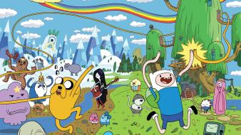 Adventure time rainbows wallpaper