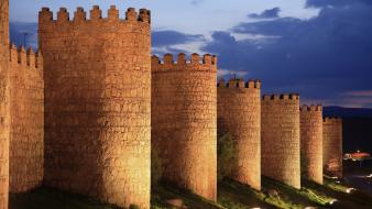 Age of empires 2 spain castles dusk wallpaper