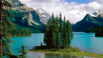 Alberta canada jasper national park maligne lake wallpaper