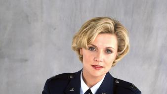 Amanda tapping samantha carter stargate sg1 actress wallpaper