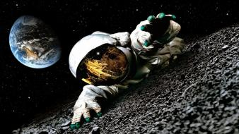 Apollo 18 movie earth moon astronauts movies wallpaper