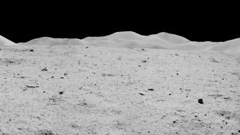 Apollo moon landing multiscreen panorama Wallpaper