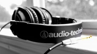 Audiotechnica abstract headphones music wallpaper