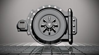 Bank safe vault wallpaper