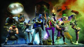 Batman gotham city impostors funny green superheroes wallpaper