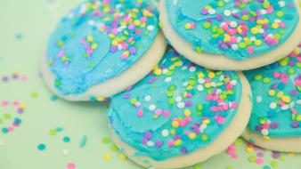 Biscuits cookies icing sprinkles wallpaper