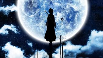 Bleach kuchiki rukia moon silhouettes wallpaper