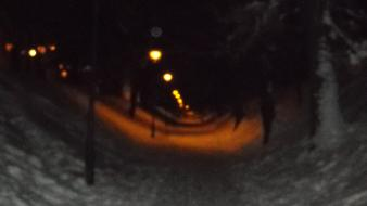 Blurred dark lights snow winter Wallpaper
