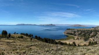 Bolivia lake titicaca peru clouds lakes wallpaper