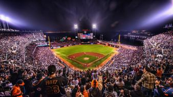 California san francisco baseball lights sports wallpaper