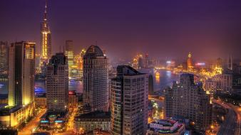 China pices shanghai cityscapes pudong wallpaper