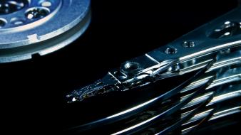 Closeup computers hard disk drive technology wallpaper