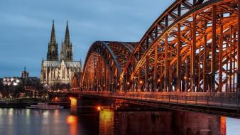 Cologne germany bridges cityscapes city skyline wallpaper