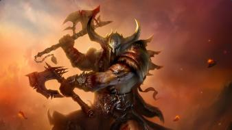 Diablo iii victorious artwork barbarian fantasy art wallpaper
