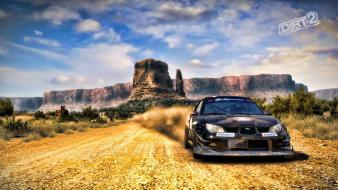 Dirt 2 subaru impreza cars clouds landscapes wallpaper