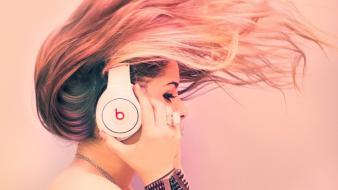 Dj girls dr dre monster beat music pink wallpaper