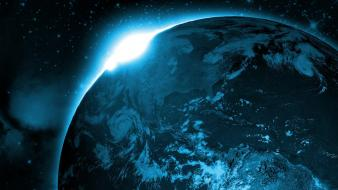 Earth artwork outer space stars wallpaper
