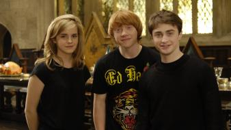 Emma watson harry potter hogwarts rupert grint wallpaper