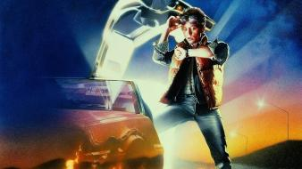 Future delorean dmc12 drew struzan marty mcfly Wallpaper