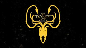 Game of thrones house greyjoy sigil wallpaper