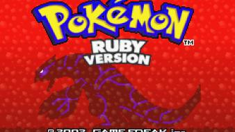 Groudon pokemon ruby version screenshots sprites wallpaper