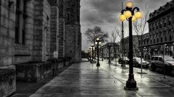Hdr photography cityscapes lanterns selective coloring streets wallpaper