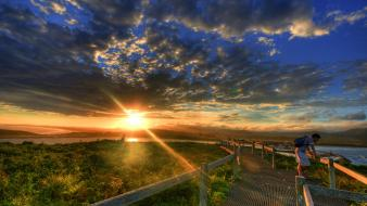 Hdr photography sun landscapes Wallpaper